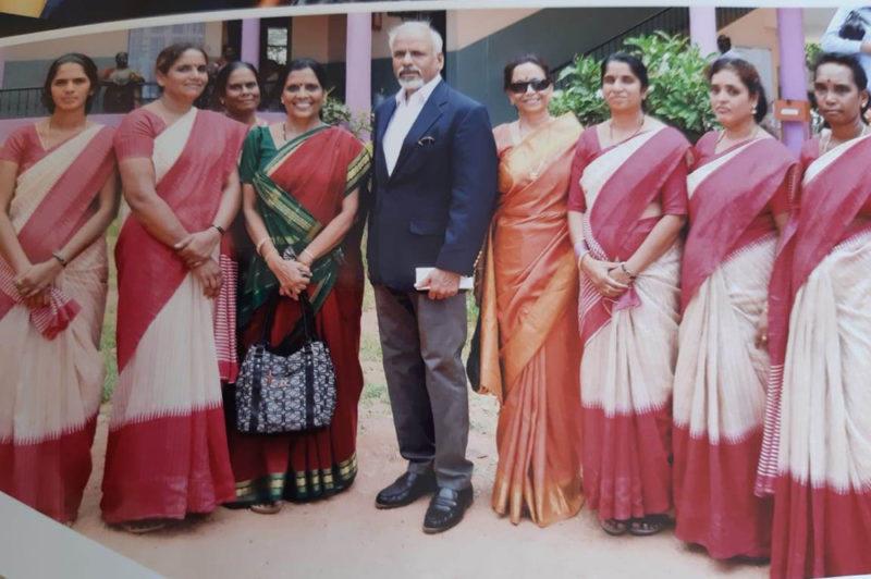 Prof. K R Sreenivasan with GVPS Staffs