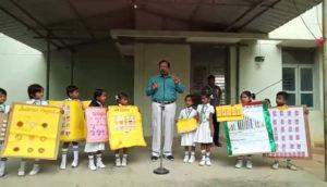 Project Presentation by 1st STD Students