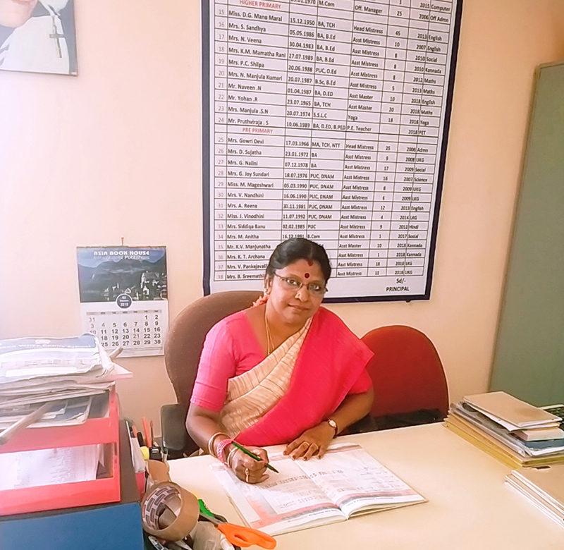 Smt. P.Ezhilarasi M.Com Office Manager