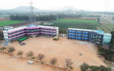 GVPS School Campus – View from Drone Camera